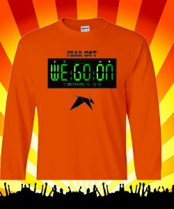 DnkiMusic's We Go On T 100% Heavyweight Ultra Cotton Long Sleeve Adult T-Shirt Design Zoom
