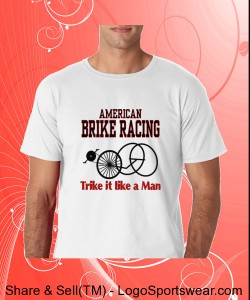 Brike Racing Number on Back Gildan 100% Soft Style Ringspun Tee Design Zoom