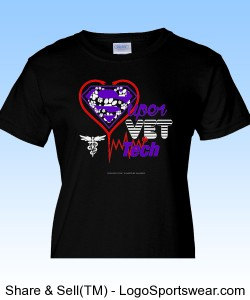 Super Vet Tech Ladies T Design Zoom