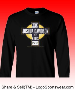 Joshua Davidson King of Kings - 100% Heavyweight Ultra Cotton Long Sleeve Adult T-Shirt Design Zoom