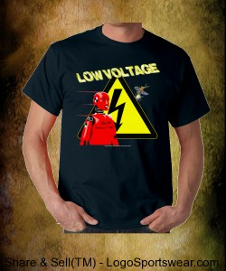LOW VOLTAGE Design T - Gildan Adult T-shirt Design Zoom