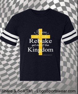 DnkiMusic's Rebuke T - Vintage Football T-Shirt Design Zoom