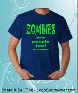 Apoca-Crap Designs ZOMBIE RIGHTS - Gildan Adult T-shirt Design Zoom