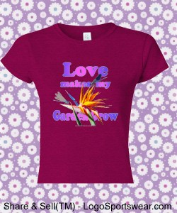 Love T - Gildan Ladies 100% Soft Style Ringspun Tee Design Zoom
